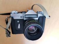 ZenitE camera plus Helios 44-2 lens