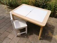 Childrens ikea desk table and chair