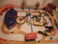Toys R Us Universe of Imagination Wooden Train Set with Lights Sounds 100% Complete - CAN POST