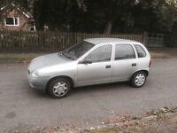 vauxhall corsa 973cc 1999 12 months mot taxed 2 former keepers two key fiesta