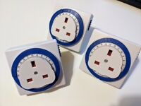 24 Hour Segment Timer Switch Socket Compact Energy Saver Plug (up to 7)
