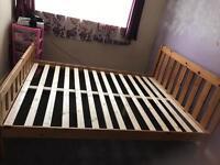 Kingsize pine frame bed