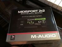 Brand New M-Audio 2x2 Anniversary Edition MIDI Interface