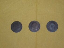 3 Very Old Foreign Coins