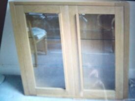 M&S Sonoma Oak display cabinet 1 year old vgc bookshelf kitchen shelves