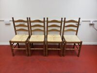 Wooden chairs X4 (Delivered free)