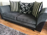 Grey 3 seater sofa and swivel chair set in excellent condition !!!