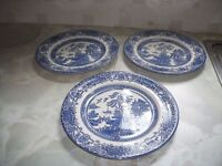 Blue Oriental Style Plates