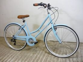 "Claud Butler Cambridge Style Blue Ladies Classic Vintage Loop Town Bike 17"" Med New Shop Soiled"