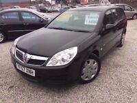 07 VAUXHALL VECTRA LIFE ESTATE 1.9 CDTI DIESEL IN BLACK *PX WELCOME* MOT TILL FEBRUARY 2018 £1295