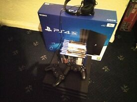 PS4 Pro Mega Bundle, 2 Controllers and Headset