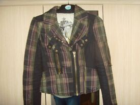 LADIES RIVER ISLAND CHECKED JACKET,SIZE 8 BUT SMALL FITTING - £1
