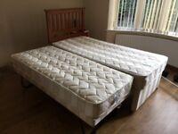 Unmarked Modern Twin Single Bed.