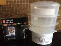 Russell Hobbs 3 Tier Food Steamer 21140, 9 L, 800 W - White
