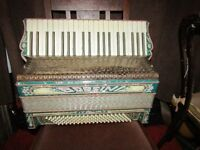 borsini 120 bass accordion from 1960s, excellent condition
