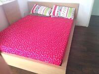 Ikea King Bed & Memory Foam Mattress
