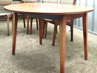 Dining Table drop leaf and four Chairs Vintage 1960's/79' Style Free Delivery in Taunton