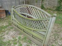 Two Decorative Fence Panels