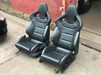 AUDI S3 RECARO WINGBACK LEATHER SEATS RS4 RS3 RS5 S4 S5 INTERIOR