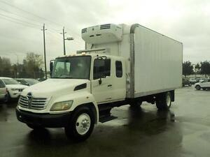 2009 Hino 338 Extra Cab 5 Passenger 23 Foot Cube Van With Reefer