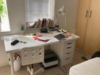 Desk and drawer - IKEA ALEX/ADIL