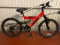 Kids red piranha atom bike