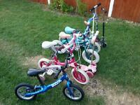 Bikes and scooters for boys and girls