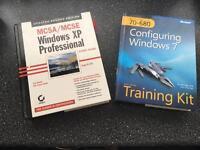 2 x Windows (XP Pro & Windows 7) Study Guide Books