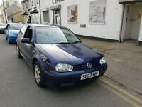 03 PLATE VW GOLF. 1.4 PETROL. LONG MOT. PX WELCOME