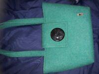 New harris tweed green handbag