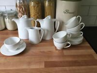 White tea and coffee crockery set