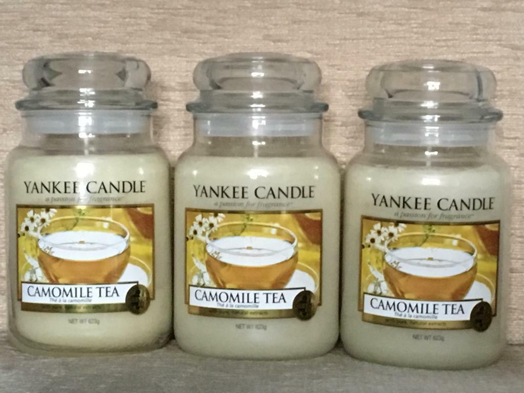 3 New YANKEE CANDLE large jar candles - Camomile Tea