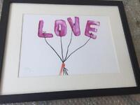 New Love Art in Black Frame