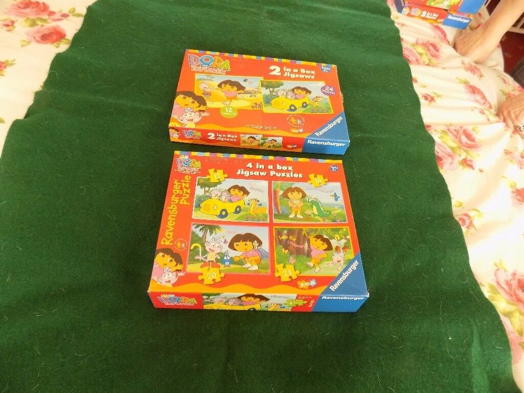 2 x boxed DORA THE EXPLORER JIGSAW PUZZLES