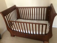 Sleigh 3 in 1 cot bed & sofa, made in Italy