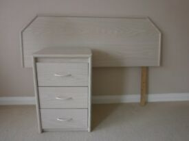 Bedside cabinet and matching headboard