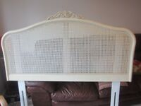Willis & Gambier Ivory headboard double bed size in excellent condition from smoke & pet free home