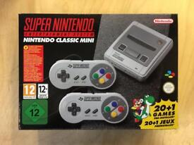 Super Nintendo (snes) classic mini games console bnib