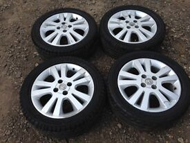 "Vauxhall Astra 4 stud 16"" alloy wheels - excellent tyres"