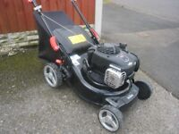 Petrol Lawnmower Florabest FBM450 Fully Serviced 18 Months Old Great Mower