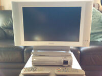 Philips 17 inch Widescreen LCD TV with separate Freeview receiver