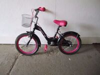 Girls Pink and Black Bicycle I.D.82/5/17