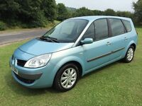 2007 RENAULT GRAND SCENIC DYNAMIQUE 1.6 PETROL 7 SEATER MOT JUL 17 2 KEYS S/HISTORY GOOD CONDITION