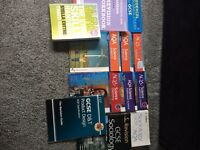 Various GCSE books - science, sociology, business and design technology