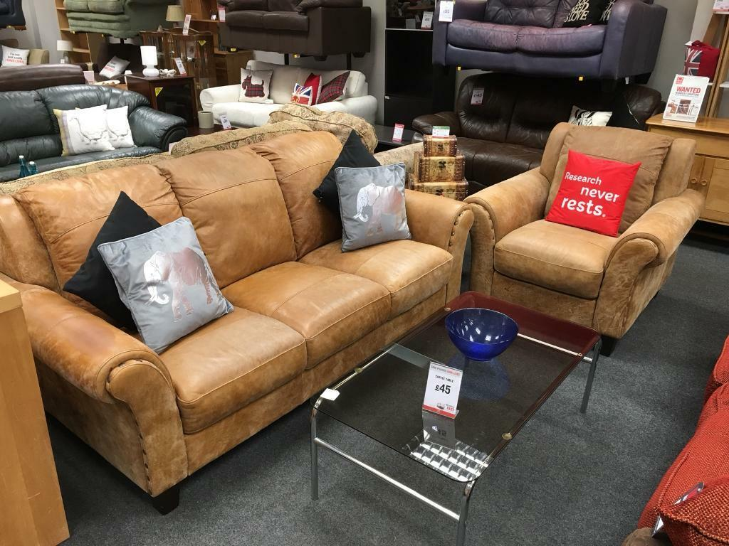 Brilliant Bhf Tan Leather 3 Str Sofa And Matching Chair In Sheffield South Yorkshire Gumtree Gmtry Best Dining Table And Chair Ideas Images Gmtryco