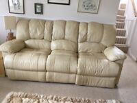 Free Two seater and three seater leather settees