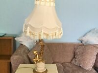 Cherub Lamp includes Shade, Bulb and Plug Height measures 26in/66cm