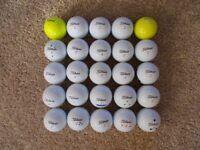 25 x TITLEIST Golf Balls (11 DT Solo & 14 DT TruSoft), Grade A condition!