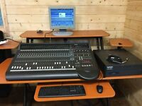 Mackie d8b Digital Mixing Console 3 MFX cards, 3 DIO adat optical/Tascam TDIF I/O Cards