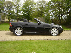 Mercedes slk 200 convertible 2003 black, manual, 78k miles, excellent condition, fsh..private sale!
